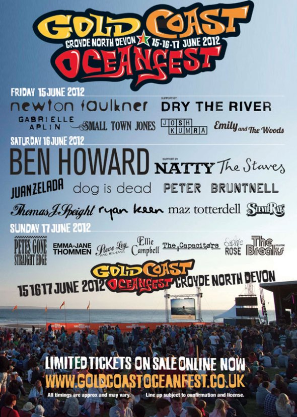 Gold Coast Oceanfest Full Iine Up Poster