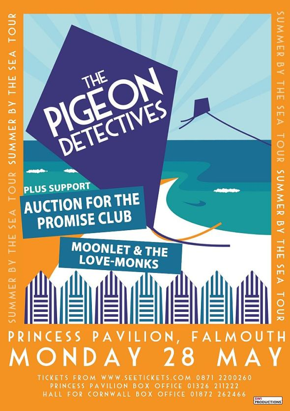 Pigeon Detectives Falmouth poster
