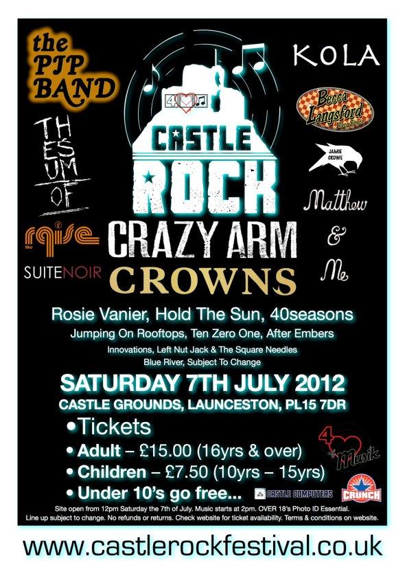 Castle Rock Festival 2012 poster