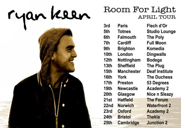Ryan Keen Room For Light tour poster 2013