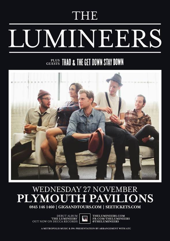 The Lumineers - UK Tour Poster Plymouth Pavilions