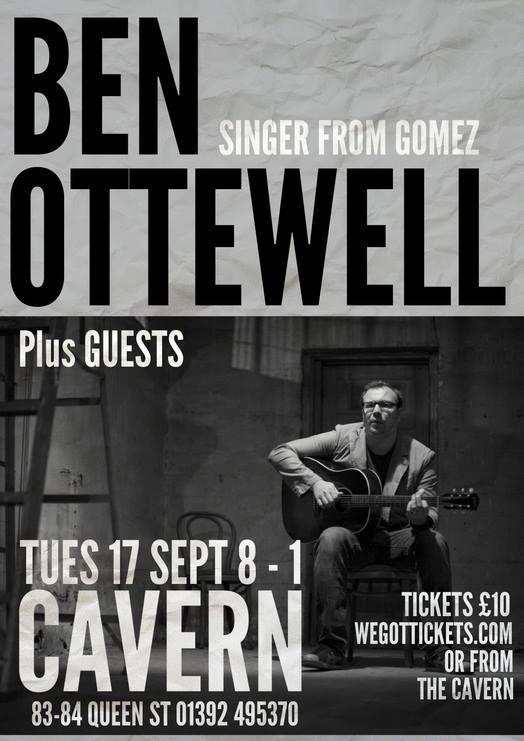 Ben Ottewell - Exeter gig poster