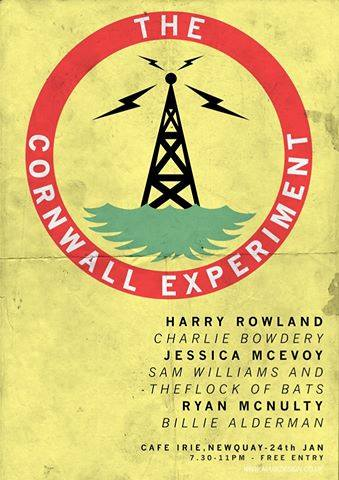 The Cornwall Experiment III - Cafe Irie poster