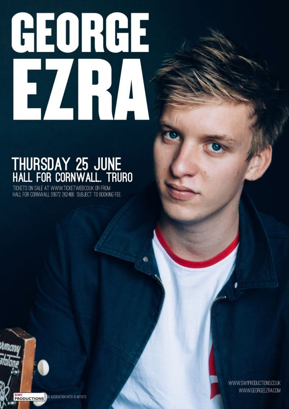 George Ezra - Hall For Cornwall 250614 poster